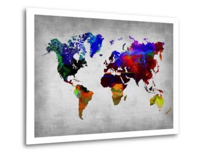 World Watercolor Map 12-NaxArt-Metal Print