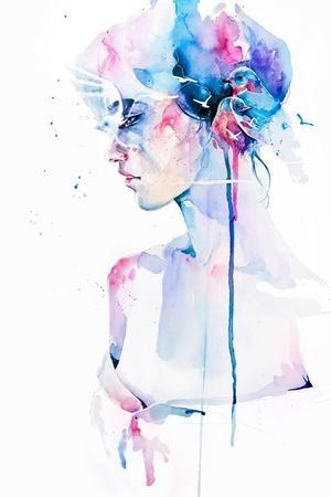 Loss-Agnes Cecile-Stretched Canvas Print