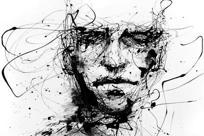 Lines Hold The Memories-Agnes Cecile-Stretched Canvas Print