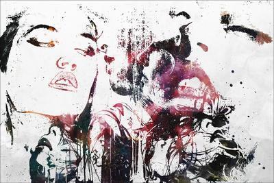Love Will Tear Us Apart-Alex Cherry-Stretched Canvas Print