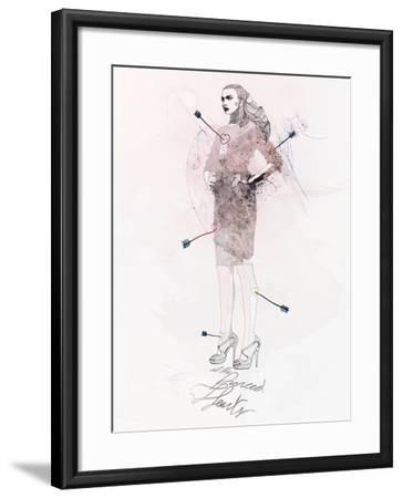 All the Pierced Hearts-Mydeadpony-Framed Art Print