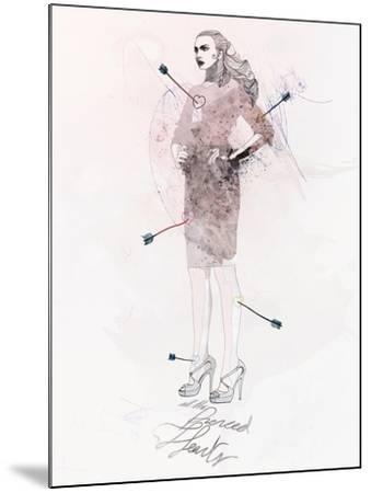 All the Pierced Hearts-Mydeadpony-Mounted Art Print
