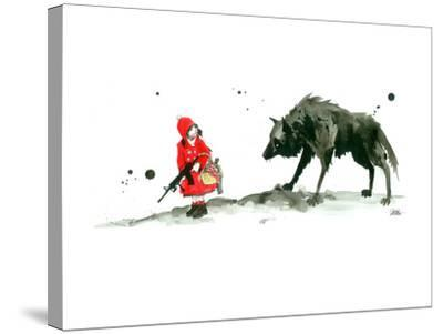 Red Riding Hood-Lora Zombie-Stretched Canvas Print