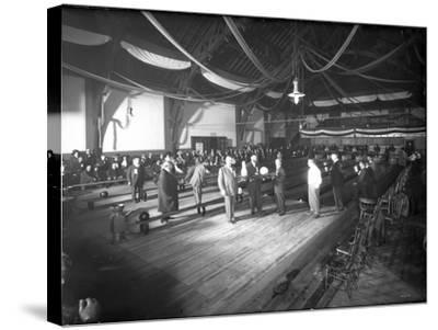 Bowlers' Opening at Bowling Alley, Madison Park, Seattle, 1909-Ashael Curtis-Stretched Canvas Print
