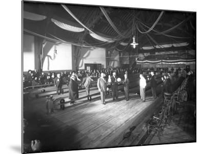 Bowlers' Opening at Bowling Alley, Madison Park, Seattle, 1909-Ashael Curtis-Mounted Giclee Print