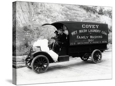 Covey Wet Wash Laundry Co. Inc. Delivery Truck, Seattle, 1913--Stretched Canvas Print