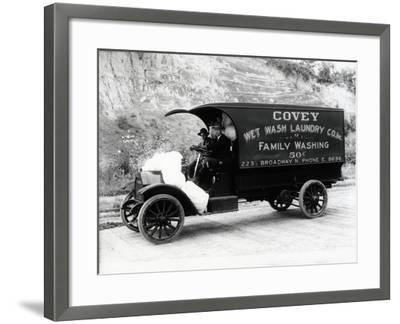 Covey Wet Wash Laundry Co. Inc. Delivery Truck, Seattle, 1913--Framed Giclee Print