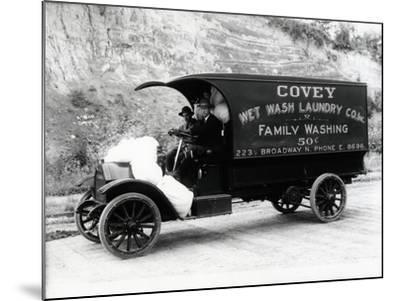 Covey Wet Wash Laundry Co. Inc. Delivery Truck, Seattle, 1913--Mounted Giclee Print