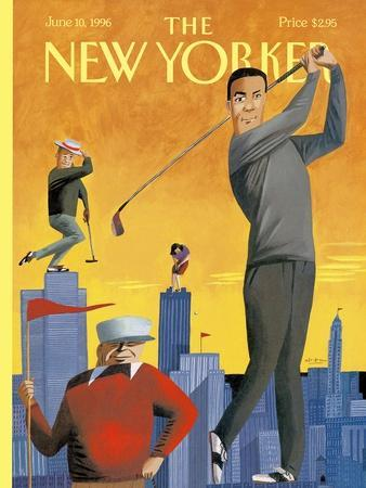The New Yorker Cover - June 10, 1996-Mark Ulriksen-Stretched Canvas Print