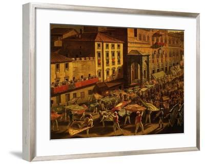 Standard Bearers, from Procession of Contrade for the Palio of 18 and 19 August 1818-Francesco Nenci-Framed Giclee Print