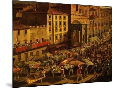 Standard Bearers, from Procession of Contrade for the Palio of 18 and 19 August 1818-Francesco Nenci-Mounted Giclee Print
