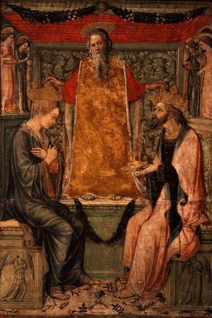 Coronation of Christ and the Virgin Mary-Bonifacio Bembo-Stretched Canvas Print