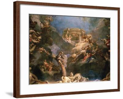 The Apotheosis of Hercules, Ceiling of Hercules Salon, Decorated 1710-Francois Lemoyne-Framed Giclee Print