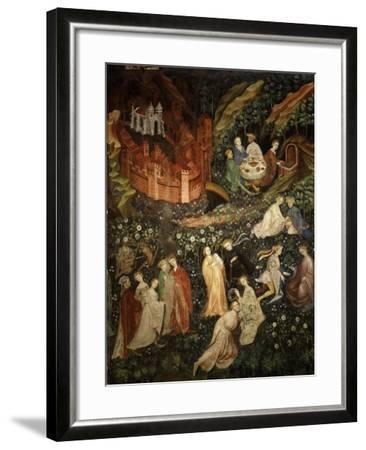 May, Fresco from Cycle of Months C.1400 Buonconsiglio Castle- Venceslao-Framed Giclee Print