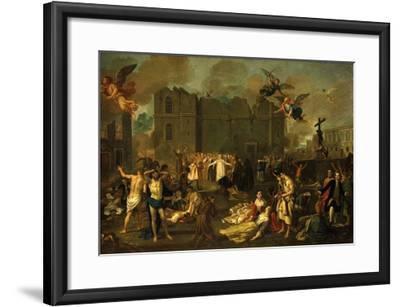Earthquake in Lisbon, Portugal, 1755-Jao A. Stroberle-Framed Giclee Print
