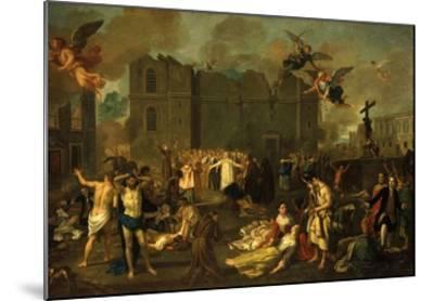 Earthquake in Lisbon, Portugal, 1755-Jao A. Stroberle-Mounted Giclee Print