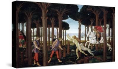 The Story of Nastagio Degli Onesti (First Episode), 1483 (From Boccaccio's Decameron)-Sandro Botticelli-Stretched Canvas Print