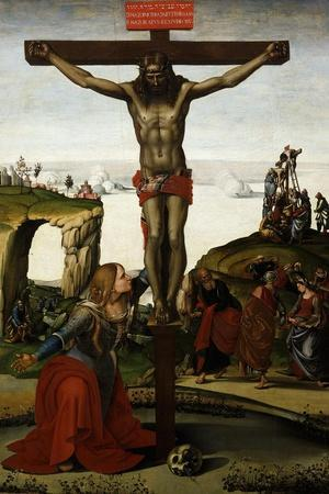 The Crucifixion with Mary Magdalene, C.1500-05-Luca Signorelli-Stretched Canvas Print