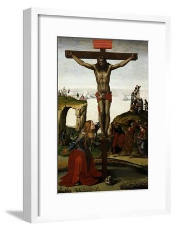 The Crucifixion with Mary Magdalene, C.1500-05-Luca Signorelli-Framed Giclee Print
