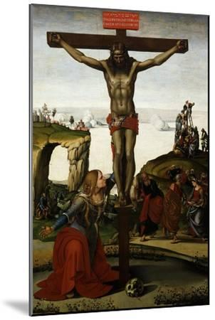 The Crucifixion with Mary Magdalene, C.1500-05-Luca Signorelli-Mounted Giclee Print