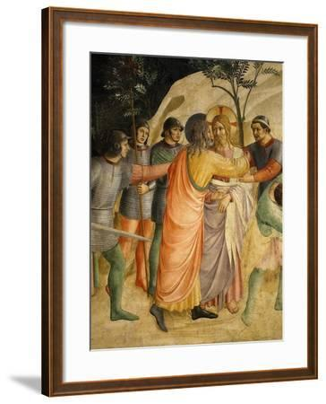 Arrest of Jesus and Judas' Kiss, Fresco 1437-45-Fra Angelico-Framed Giclee Print