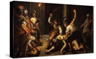 The Flagellation of Christ-Jeremie Le Pilleur-Stretched Canvas Print