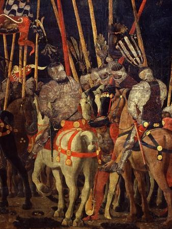 Horsemen, from Battle of San Romano (Depicting Florentine Victory over Sienese in 1432), C. 1455-Paolo Uccello-Framed Giclee Print