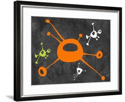 Abstract Splash Theme 13-NaxArt-Framed Art Print