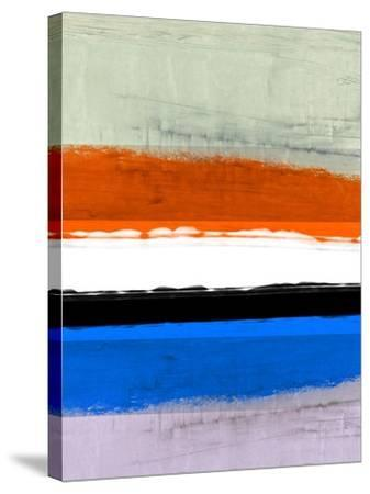 Abstract Stripe Theme White and Black-NaxArt-Stretched Canvas Print