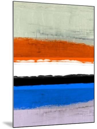 Abstract Stripe Theme White and Black-NaxArt-Mounted Art Print