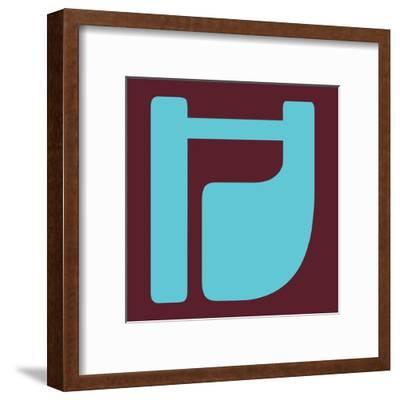 Letter H Blue-NaxArt-Framed Art Print