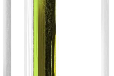 Abstract Green on White-NaxArt-Stretched Canvas Print