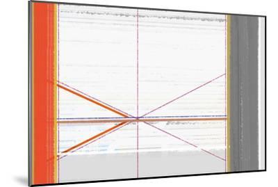 Abstract Orange and White-NaxArt-Mounted Art Print