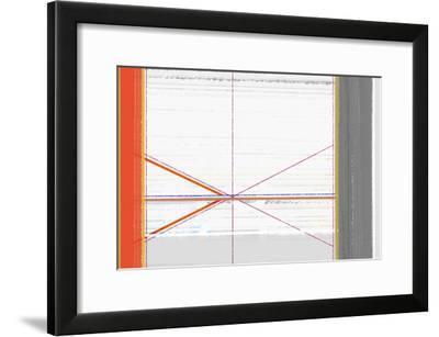 Abstract Orange and White-NaxArt-Framed Art Print