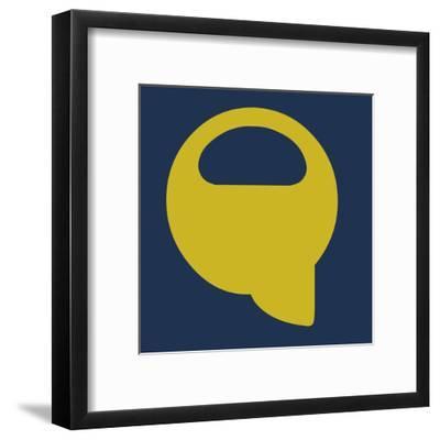 Letter Q Yellow-NaxArt-Framed Art Print