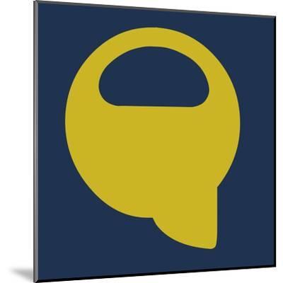 Letter Q Yellow-NaxArt-Mounted Art Print