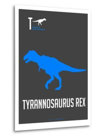 Blue Dinosaur-NaxArt-Metal Print