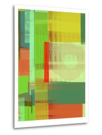 Green and Brown Abstract 3-NaxArt-Metal Print