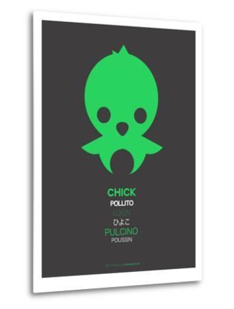 Green Chick Multilingual Poster-NaxArt-Metal Print