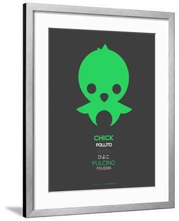 Green Chick Multilingual Poster-NaxArt-Framed Art Print