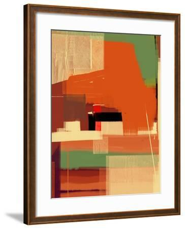 Green and Brown Abstract 4-NaxArt-Framed Art Print