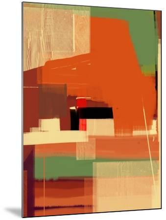 Green and Brown Abstract 4-NaxArt-Mounted Art Print