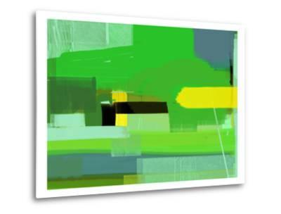 Green and Brown Abstract 6-NaxArt-Metal Print
