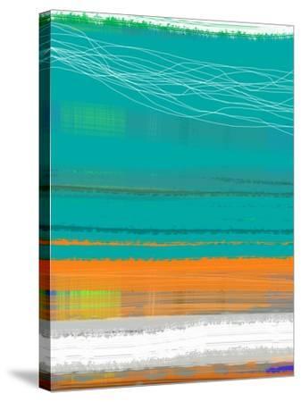 Abstract Orange Stripe2-NaxArt-Stretched Canvas Print