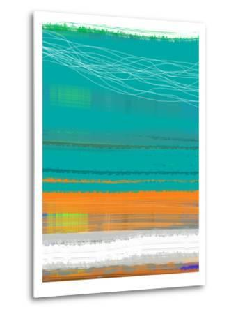 Abstract Orange Stripe2-NaxArt-Metal Print