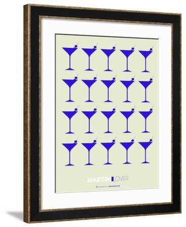 Martini Lover Blue-NaxArt-Framed Art Print