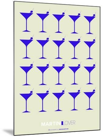 Martini Lover Blue-NaxArt-Mounted Art Print