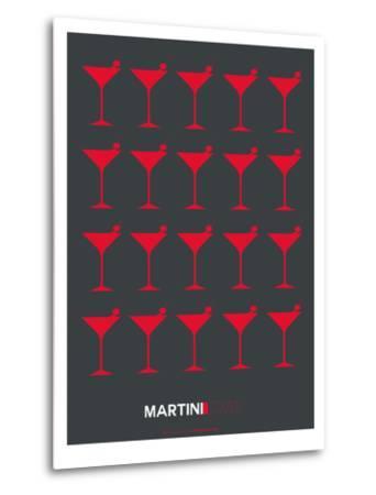 Martini Lover Red-NaxArt-Metal Print
