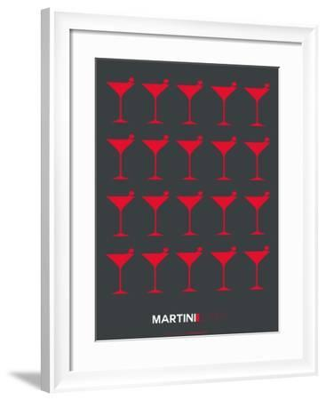 Martini Lover Red-NaxArt-Framed Art Print