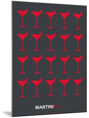Martini Lover Red-NaxArt-Mounted Art Print